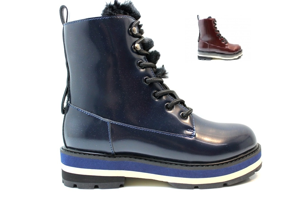 CAFeNOIR LFA911 Burgundy and Blue Boots Woman tied