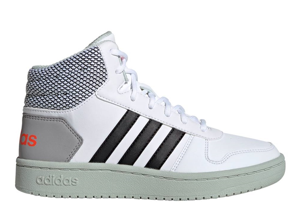 Adidas HOOPS MID 2.0 K EE8545 Bianco Scarpe Donna Bambino Sneakers Ginnastica