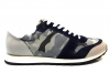 Trussardi Jeans 77S066 Black and Gray Sneakers Man Shoe for a Sporty Casual