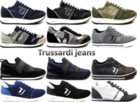 Trussardi Jeans 77S064 Blue and Black Sneakers Man Shoe for a Sporty Casual