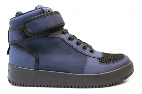 Ankle boots Man GENT RUB SMOOTH S0498 Blue Sneakers Man Sport Shoe