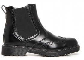Black garden A734441M Black ankle boots Shoes Woman Children in the English Style
