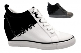 Sneakers Donna RORY NYLON FLOCKING R0647 Bianco e Nero  Polacchine Casual