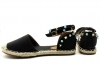 Laura Biagiotti 699 Black and Beige Campesine Woman Child Low Comfortable Shoes