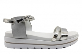 Black garden P805853D Silver Footwear Sandals Low Shoes Women