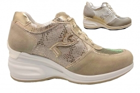 Black garden P805070D Grey, and Ivory Sneakers Shoes ladies Comfortable Footwear