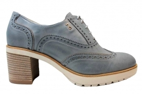 Black garden P805041D Navy Laced Shoes English Style