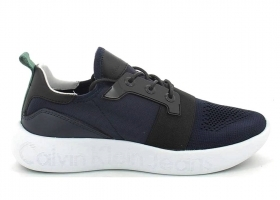 Calvin Klein Jeans MEL KNIT S0541 Black and Blue Shoe Men's Sports Casual