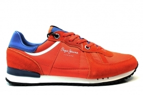 Pepe Jeans London PMS30415 Orange Sneakers Man Casual Shoe Sports