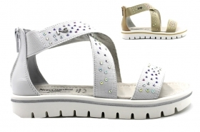 Nero Giardini Junior P830371F White and Sand Sandals Low Shoes Women Girl