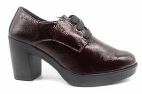 IGI and CO 2180822 Bordeaux lace-up shoes Woman With Plateau