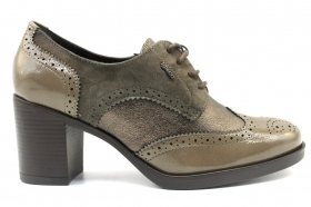 IGI and CO 2188533 Dove grey lace-up shoes Woman With Plateau