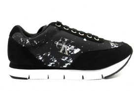 Calvin Klein Jeans TABATA SPLATTERED NYLON RE9801 Nero Sneakers  Donna Casual