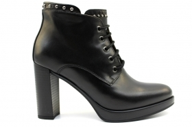 Black garden A806320D Black Boots Ankle Woman With Plateau