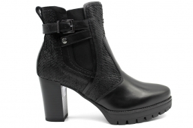 Black garden A807077D Black Boots Ankle Woman With Plateau