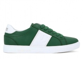 Trussardi Jeans 77A00107 Green Sneakers Man Shoe for a Sporty Casual