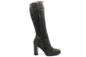 Black garden A807011D Charcoal Knee-high Boots Woman With Plateau