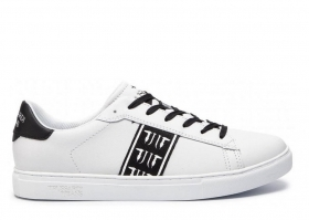 Trussardi Jeans 77A00143 White Black Sneakers Man Shoe for a Sporty Casual