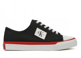 Calvin Klein Jeans IVORY CANVAS R0771 Black Shoe for a Sporty Casual