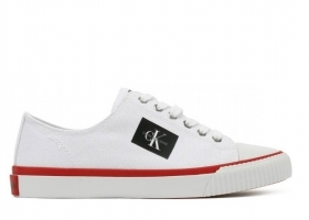 Calvin Klein Jeans IVORY CANVAS R0771 White Sports Shoe Casual