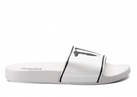 Trussardi Jeans 77A00159 White Slippers Man the Sea Shower