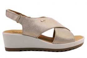 IGI and CO 3172155 Platinum Shoes Comfortable Wedge Sandals Women's