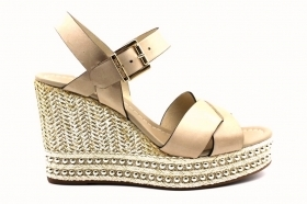 Black garden P908341D Champagne Footwear Sandals with Wedge heel Woman