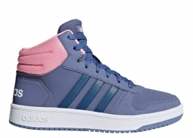 Adidas HOOPS MID 2.0 F35099 Viola Scarpe Donna Bambina Sneakers Ginnastica