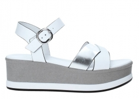 Black garden P908362D White Shoes Wedge Sandals Woman