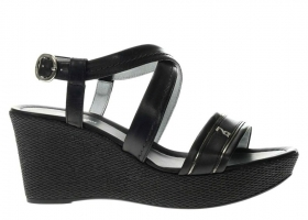 Black garden P908113D Black Shoes Wedge Sandals Woman