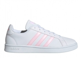 Adidas GRAND COURT BASE EE7480 Bianco Scarpe Donna Sneakers Sportive