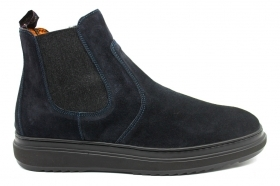 IGIeCO 4111455 Blue Ankle Boots Men's Shoes Shoes Casual