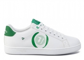 Trussardi Jeans 77A00208 White Green Sneakers Man Shoe for a Sporty Casual