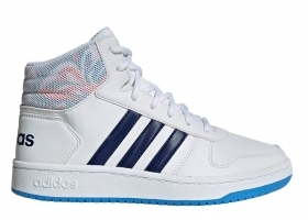 Adidas HOOPS MID 2.0 EE8546 Bianco Scarpe Donna Bambino Sneakers Ginnastica
