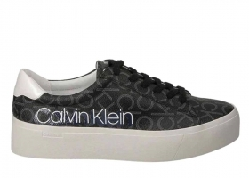 Calvin Klein JANIKA LOW TOP LACE UP B4E6289 Black Shoe for a Sporty Casual