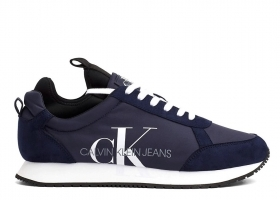 Calvin Klein JEMMY LOW TOP LACE UP B4S0136 Blu Scarpa Sportiva Casual