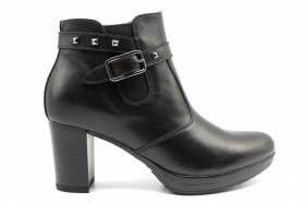 Black garden A908701D Black Boots Ankle Woman With Plateau