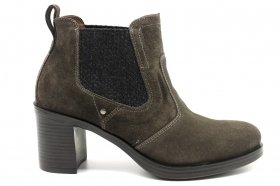 Black garden A908820D Charcoal Boots Ankle Woman With Plateau