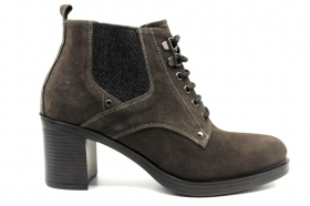 Black garden A908821D Charcoal Boots Ankle Woman With Plateau
