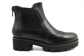 Black garden A909784D Black ankle boots Shoes English Style