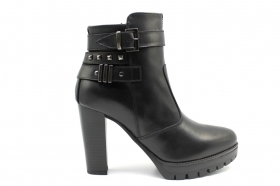 Black garden A909680D Black Boots Ankle Woman With Plateau
