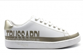 Trussardi Jeans 79A00420 White Sneakers Woman Sports Shoe
