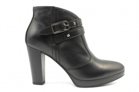 Black garden A908712D Black Boots Ankle Woman With Plateau