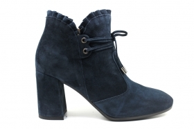 Black garden A909431DE Blue Boots Ankle Women's