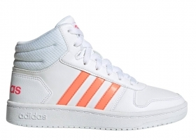 Adidas HOOPS MID 2.0 K EE6708 White Shoes Baby Sneakers Gymnastics