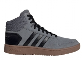 Adidas HOOPS 2.0 MID EE7367 Grey mens trainers Sports