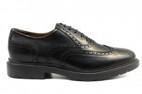 Black garden A901151U Black Lace up mens Shoes, English Style