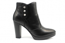Black garden A908711D Black Boots Ankle Woman With Plateau