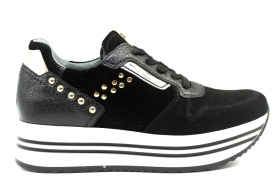 Black garden A909043D Black Sneakers Shoes ladies Comfortable Footwear