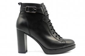 Black garden A908721D Black Boots Ankle Woman With Plateau